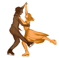 Rumbelle on Ice by hayleykayarts