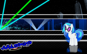 FiM: Vinyl Scratch Wallpaper 2 by M24Designs