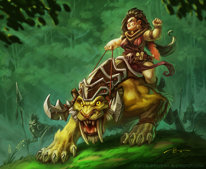 Dino Huntress 3 by 3nrique