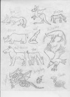 Many Animals Bodies by JaDebuscus