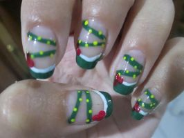 Seasonal: Christmas French Manicure (TUTORIAL) by rishamu