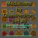 QH-Medallions-Colorful-and-Shiny-Set#6 by quasihedron