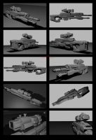 Contention: UNMC M2331 Gauss HB SAWS (WIP) by Malcontent1692