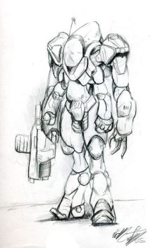 Concept- Powered Armor by Delvennerim