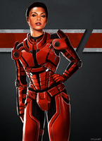 Commander Shepard by Vylla