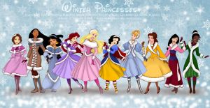 Winter Princesses by selinmarsou