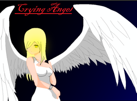 Crying angel by lpso18
