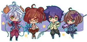 [COMMISSION] Chibis by Z-E-N-E-R-O