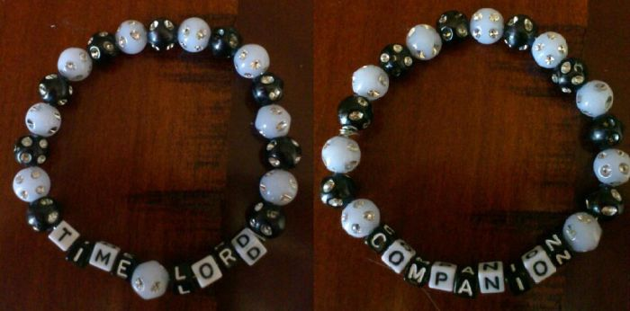 Time Lord and Companion Bracelets by JuliaBoon