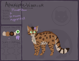 AW | Flowerpaw | ShadowClan by Catosmosis