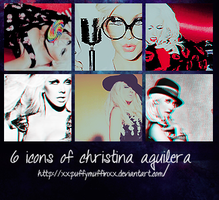 christina aguilera 6 icons by XxpuffymuffinxX