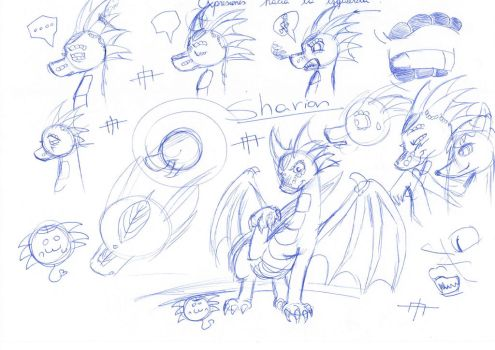 dragon doobles 1 by SharionDragon