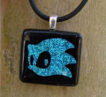 Sonic Fused Glass Pendant by FusedElegance