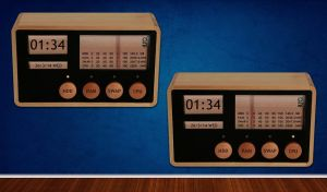 Wooden System Meter for xwidget by jimking