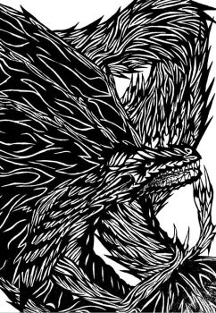 B/W Dragon by SonsationalCreations