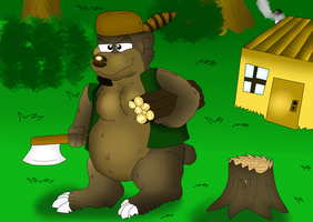 A Bear in the Forest ( lumberjack ) by valentinfrench