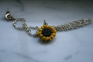 Sunflower Necklace by Shacchan