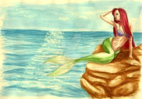 Little mermaid by CryingFaery