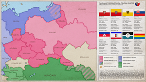 Panslavic Federation of Central Europe (SPF) Map by ImDeadPanda