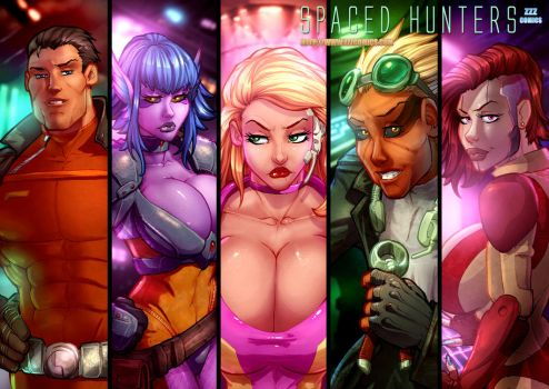 Spaced Hunters Characters by zzzcomics
