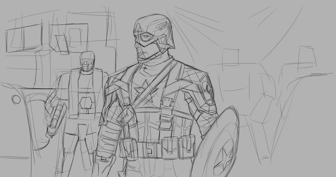 Day 288-Captain America WIP by Dan21Almeida95