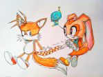 Tails and Cream - 'Hairdressing' by connieiscrazy