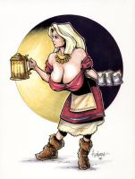 Viking Tavern Wench by Axebone
