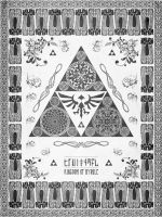 Legend of Zelda Triforce of Hyrule Letterpress by studiomuku