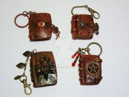 Mixed Polymer Clay keyrings by littleme1969