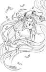 Meago and Mother lineart by meago