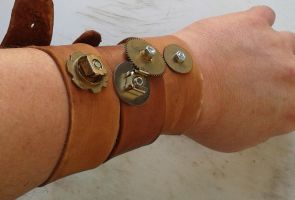 Steampunked modular bracelet 3 by gmagdic