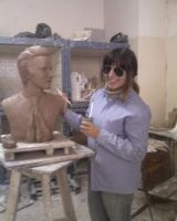 Me working on Vitas sculpture by 5akuraD1va