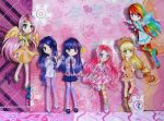 The Mane Six ~ Human Paperchildren by MimiChair