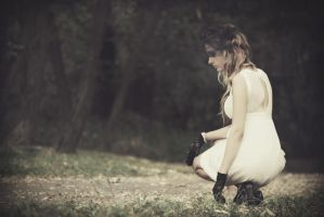 in a white dress. by me-withoutyou