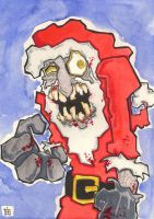 Santa Zombie by 10th-letter