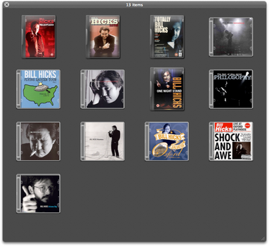 Bill Hicks DVD And CD icons by lostforaname