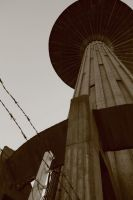 Water tower stock 03 by Metropolis-Decay
