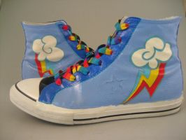 Rainbow Dash Cosplay Shoes by Acrylicolt