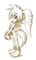 Milla the Hound (Child) - Sketch by R-No71 by SpacemanStrife