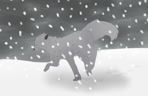 Wolf Snow by JazzyViper