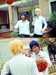 Ryouta and Aomine cosplay by BaoziandHana