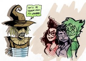The Trio and the Scarecrow by Boredman