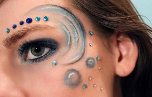 The four elements Water makeup by Jaqalynn