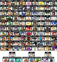 Super Smash Bros Dream Roster by ChunkyMonkey2o