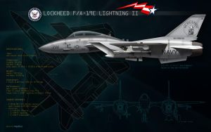 F19E Lightning II - USN VF11 by danyboz
