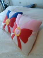 Sailor Moon and Mini Moon Pillows by CynicalSniper