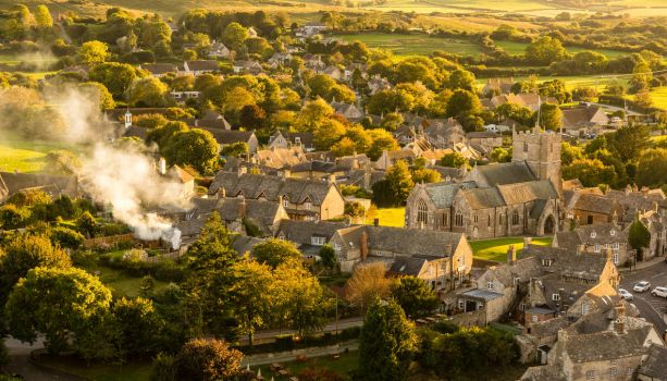 Corfe Village. by misa2525