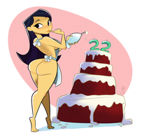 Commission: Dat Birthday Cake! by CK-Draws-Stuff
