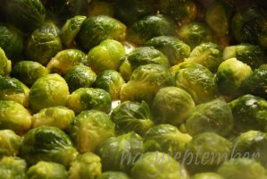 Frying Brussel Sprouts by hazyseptember