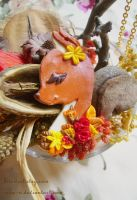 Fall Fawn Ginger necklace by Nika-N